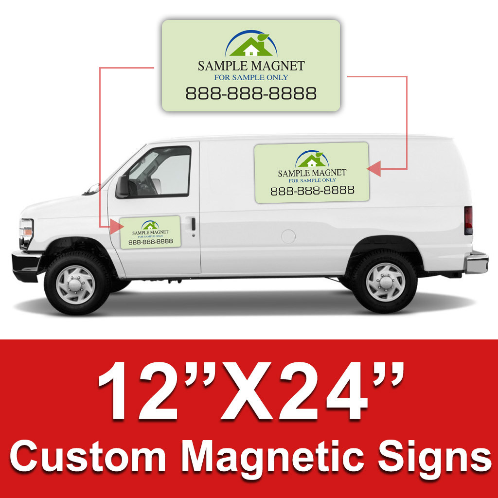 12x24 Inch Car Magnets Custom Magnetic Signs Dpsbanners Com