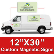 12x30 Car Magnets Custom Magnetic Signs