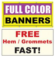 8x2 Vinyl Banner Custom Printed