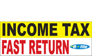 Income Tax Banners-Vinyl-Outdoor 1600