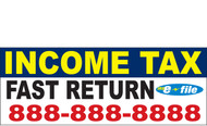 Income Tax Banners-Vinyl-Outdoor 2000