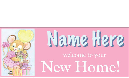 welcome home baby girl banner sign vinyl 8