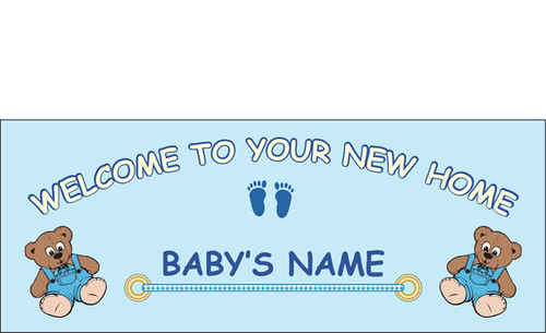 Welcome home newborn banner sign vinyl 21