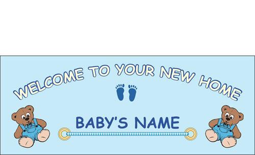 welcome home newborn banner sign vinyl 21