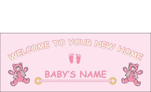 welcome home newborn banner sign vinyl 22