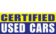 Certified Used Car Banner Sign Style 1100