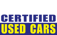 Certified Used Car Banner Sign Style 1200