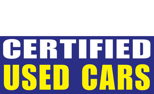 Certified Used Car Banner Sign Style 1300