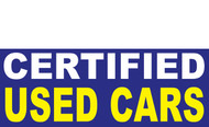 Certified Used Car Banner Sign Style 1400