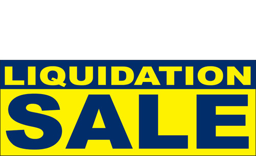 Liquidation Sale Vinyl Banner Style 1300 in Yellow and White