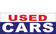USED CARS Outdoor Vinyl Banner Sign Style 1000