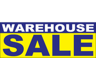 Warehouse Sale Banner Sign 1100