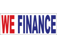 We Finance Outdoor Banner Red-Blue-White Style 1200