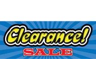 Clearance Banner Sign 1300
