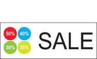 Sale with percentage Vinyl Banner Sign style 1800