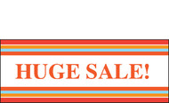 Huge Sale Vinyl Banner Sign Style 2100