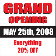 Grand Opening Vinyl Banner Square Style 2600