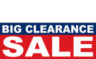 Big Clearance Banner Sign 2700