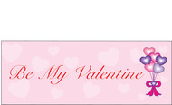 Happy Valentine's Day Banners Sign Vinyl 1200
