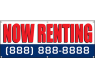 Now Renting Banner with Customizable Phone Number