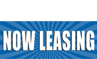 Now Leasing Vinyl Banner Sign Style 1000