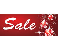 Red Ornament Sale Holiday Season Banner Sign Style 3300
