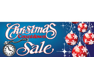 Christmas Countdown Sale Banners - Signs Style 3700