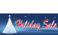 Blue Christmas Tree Holiday Sale Banner Style 4600