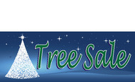 Blue Christmas Tree Sale Banner Style 4700
