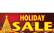 Holiday Sale Advertising Banner Sign- Red and Gold Style 5000