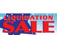 Liquidation Sale Vinyl Banner sign style 1400