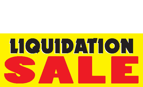 Liquidation Sale Sign Banner style 1600