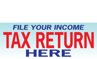Income Tax Banners-Vinyl-Outdoor 3600