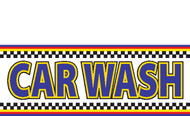 Car Wash Banner Sign style 1400