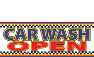 Car Wash Open Vinyl Banner Sign Style 1500