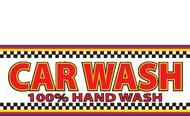 Vinyl Banner Car Wash 100% Hand Wash