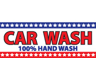 Car Wash Banner - Red White Blue