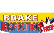 Free Brake Inspection Banner Sign 2500