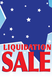 Liquidation Sale Window Poster Sign Style1000