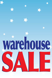 Warehouse Sale Poster Sign Style1000