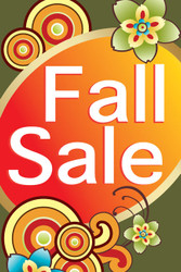 Fall Sale Window Poster Sign Style1100