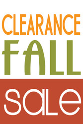 Fall Clearance Sale Window Poster Style1200