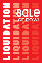 Liquidation Sale Window Posters Style1300