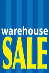 Warehouse sale advertising window sign poster style 1100