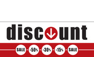 Discount Sale Banner Sign style 1300