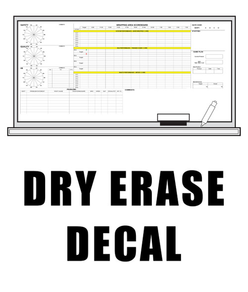 Dry Erase Vinyl Decal For Dry Erase Board Dpsbanners Com