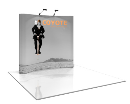 Coyote Curved Pop Up Display 3x3 Dpsbanners Com