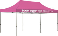 Zoom 20' Popup Tent with Custom printed Graphics