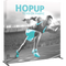 Hopup 8ft straight full graphic with Endcaps 3x3