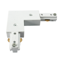 KNTRKRAW Right angle Track Connector White